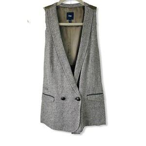 Gap Wool Herringbone Sleeveless Vest Size S